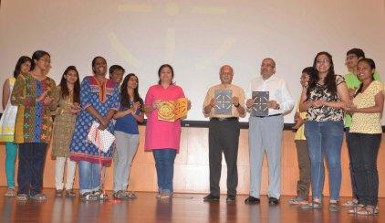 Prof Khakhar and Prof Ganesh with Team Kalpa