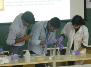 Demonstration of chemistry experiments
