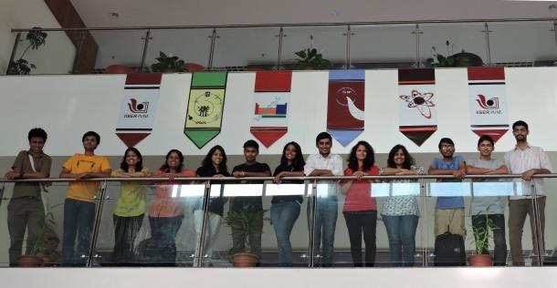 IISER Pune iGEM 2015 team-members (L to R): Dr. Chaitanya Athale (advisor), Siddhesh Zadey, Neha Khetan (instructor), Manasi Gangan (instructor), Prachiti Moghe, Rahul Biradar, Gayatri Mundhe, Prashant Uniyal, ,Ira Phadke, Snehal Kadam, Harsh Gakhare, Swapnil Bodkhe and Yash Jawale