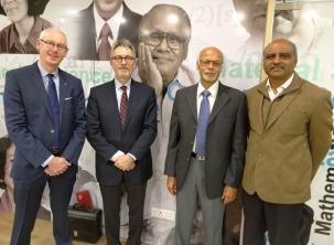 From l-r: Patrick Nédellec, Jean-François Pinton, K.N. Ganesh, G. Raja Sekhar