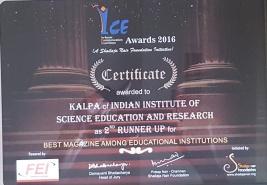Kalpa 2016 Certificate