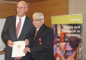 Dr. A. A. Natu gets German Cross ofMerit