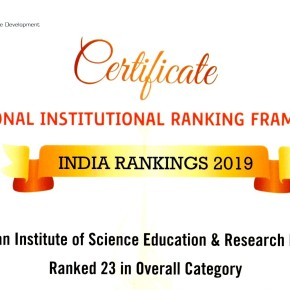 IISER Pune ranks 23 in NIRF 2019